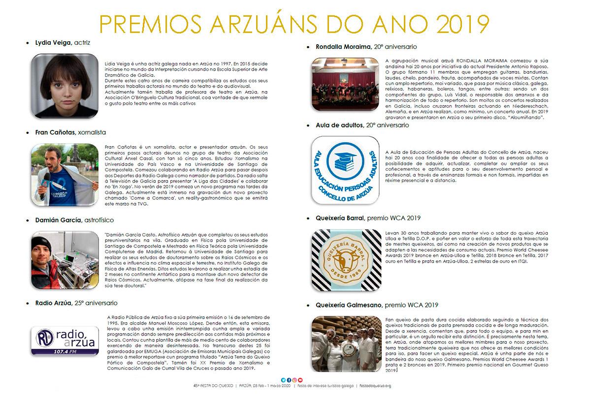 8 PREMIOS ARZUÁNS DO ANO!